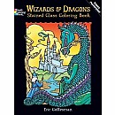 Wizards and Dragons Stained Glass Coloring Book