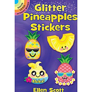 Glitter Pineapples Stickers
