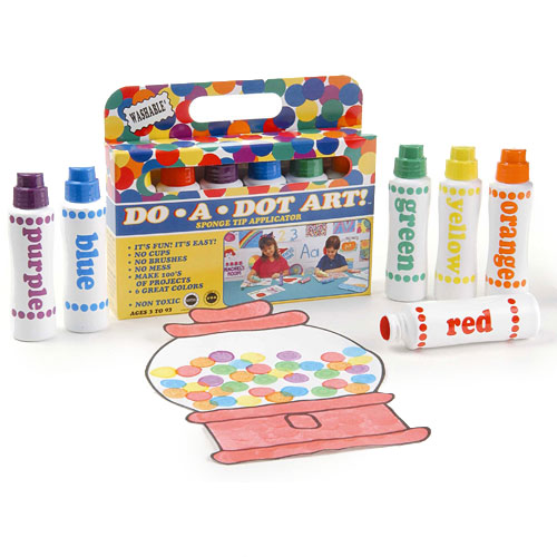 Do-A-Dot Art 6-Marker Rainbow Pack - A Child's Delight