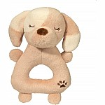 Tan Puppy Rattle