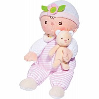 Claire Stripes & Dots Baby Doll With Teddy Bear