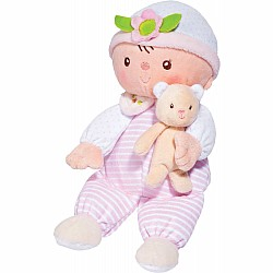 Claire Stripes Dots Baby Doll With Teddy Bear