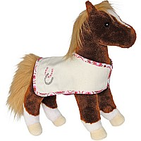 Dido Chestnut Horse with CRM Blanket