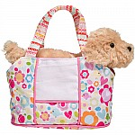 DAISY BIRD TOTE W GOLDEN RETRIEVER