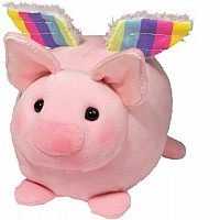 Douglas plush Pig W/Rainbow Wings Macaroon