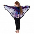 Purple Butterfly Wings With Glitter Eyes