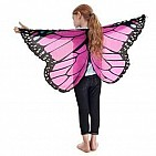 Pink Monarch Wings With Glitter