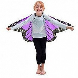 Dreamy Dress-Ups monarch wings with glitter purple