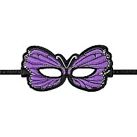 Fantasy Monarch Butterfly Mask, Lav. - Purple