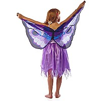 Fantasy Dress w/Purple Glitter Butterfly Wing - Medium