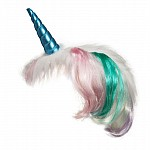 Headband Turquoise Unicorn W/Multi Mane
