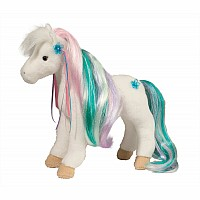 Rainbow Princess White Horse