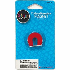 "Alnico Horseshoe Magnet (1""H), red, includes keeper"