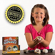 Discover With Dr. Cool Break Open 2 Real Geodes Find Crystal Treasure Kit