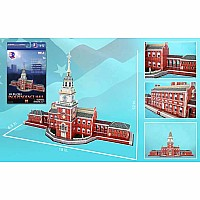 Independence Hall Philadelphia 3D Puzzle 43 Pieces