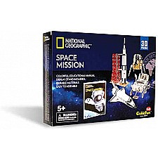 Space Mission 3D Puzzle 80 Pieces National Geographic