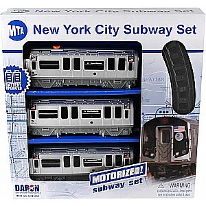 Mta Motorized Nyc Subway Train Set W/Track