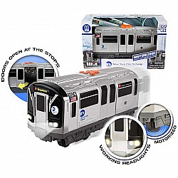 Mta Morotized Subway Car with Lights  Sound  Working Doors