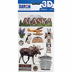 3d Sticker Set-Alaska