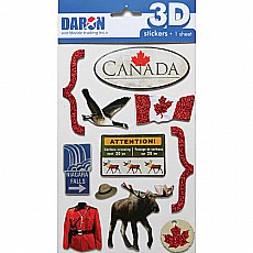 3D Sticker Set - Canada