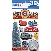 3D STICKER SET-CHICAGO