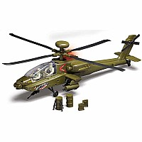 AH-64 Apache Helicopter 2 Figures W/Light & Sound