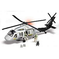 Blackhawk Helicopter W/3 Figures W/Light & Sound