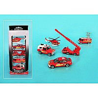 5 Pc Diecast Fire Vehicle Gift Set by Daron
