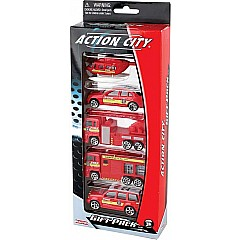Fire Dept. 5 Piece Vehicle Gift Pack