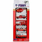 FDNY 5-Piece Vehicle Gift Set