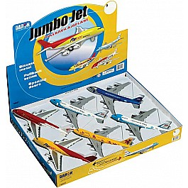 Jumbo Jet Pullback Toy 6 Piece Assortment