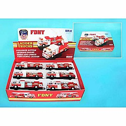 Fdny Pullback Ladder Fire Truck Sold Individually
