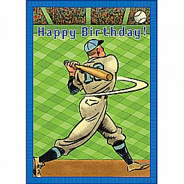 Baseball Home Run Birthday Card