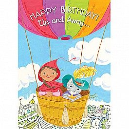 Little Red & Cat In Balloon Birthday