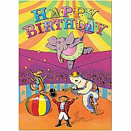 Hawkes Circus Birthday Card