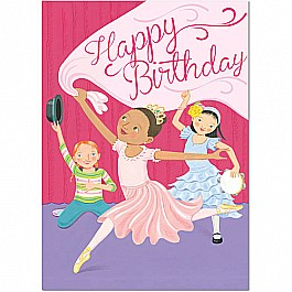 Dancing Girls Birthday Card
