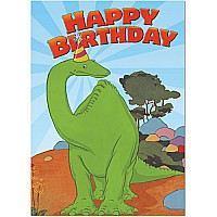 Gertie Dinosaur in Hat Birthday Card