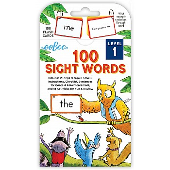 100 Sight Words Flash Cards Level 1