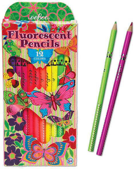 eeBoo Butterflies and Flowers 24 Color Pencils 1 EA PNBUF