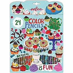 Desserts 24 Color Pencils Paper