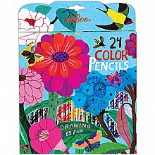 Zinnia 24 Color Pencils Paper