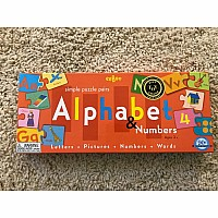 Puzzle Pairs Alphabet and Numbers