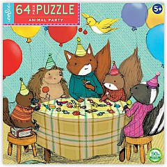 eeboo Animal Party 64 Piece Puzzle