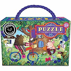 20pc Puzzle - Bear on Bicycle