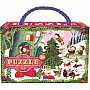 Christmas in the Woods 20 Pc Glit Puzzle