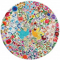 500 pc Blue Bird Yellow Bird Round Puzzle