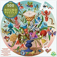 Crazy Bug Bouquet - 500 Piece Round Puzzle
