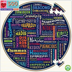 500pc Puzzle Round - 100 Great Words