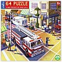Fire Truck in the City 64 Piece Puzzle