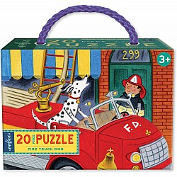 20pc Puzzle - Fire Truck Dog